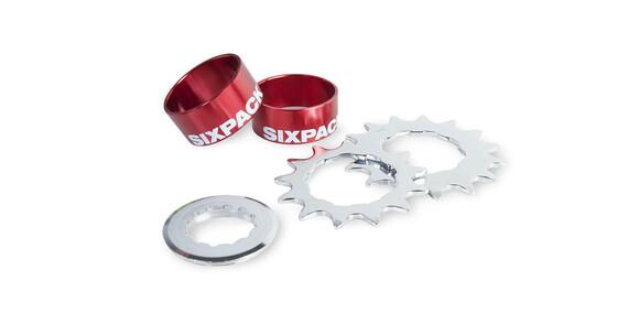Sixpack Single Speed Kit Kaseta rowerowa czerwony